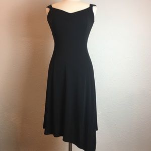 French Connection Black Asymmetrical hem dress